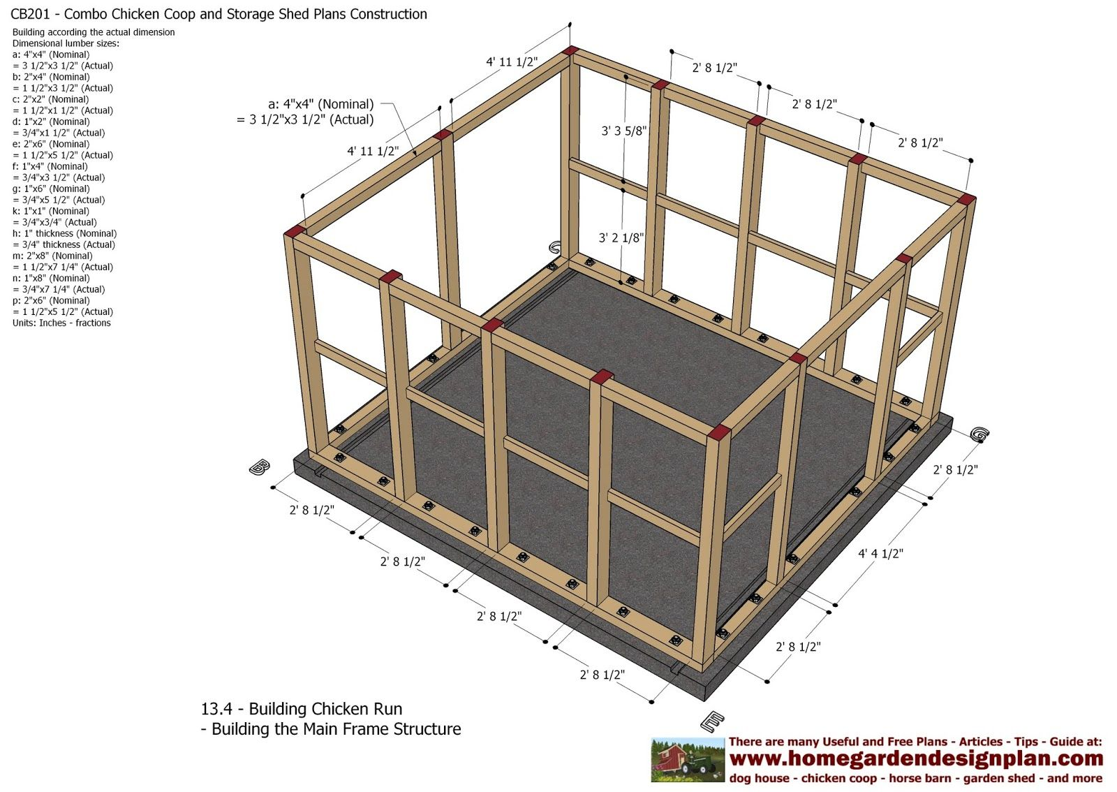 CB201 - Combo Plans - Chicken Coop Plans Construction ...