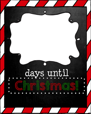 Days Until Christmas-Chalkboard Edition (Christmas Countdown Printable) Simply choose your design, print, place in an 8X10 frame and you have an interactive Christmas Countdown! Use dry erase markers on the glass to count down the days until Christmas. If you don't have a frame, just laminate and use dry erase markers. :)Place in your classroom, teacher's lounge, front office or in your own home.