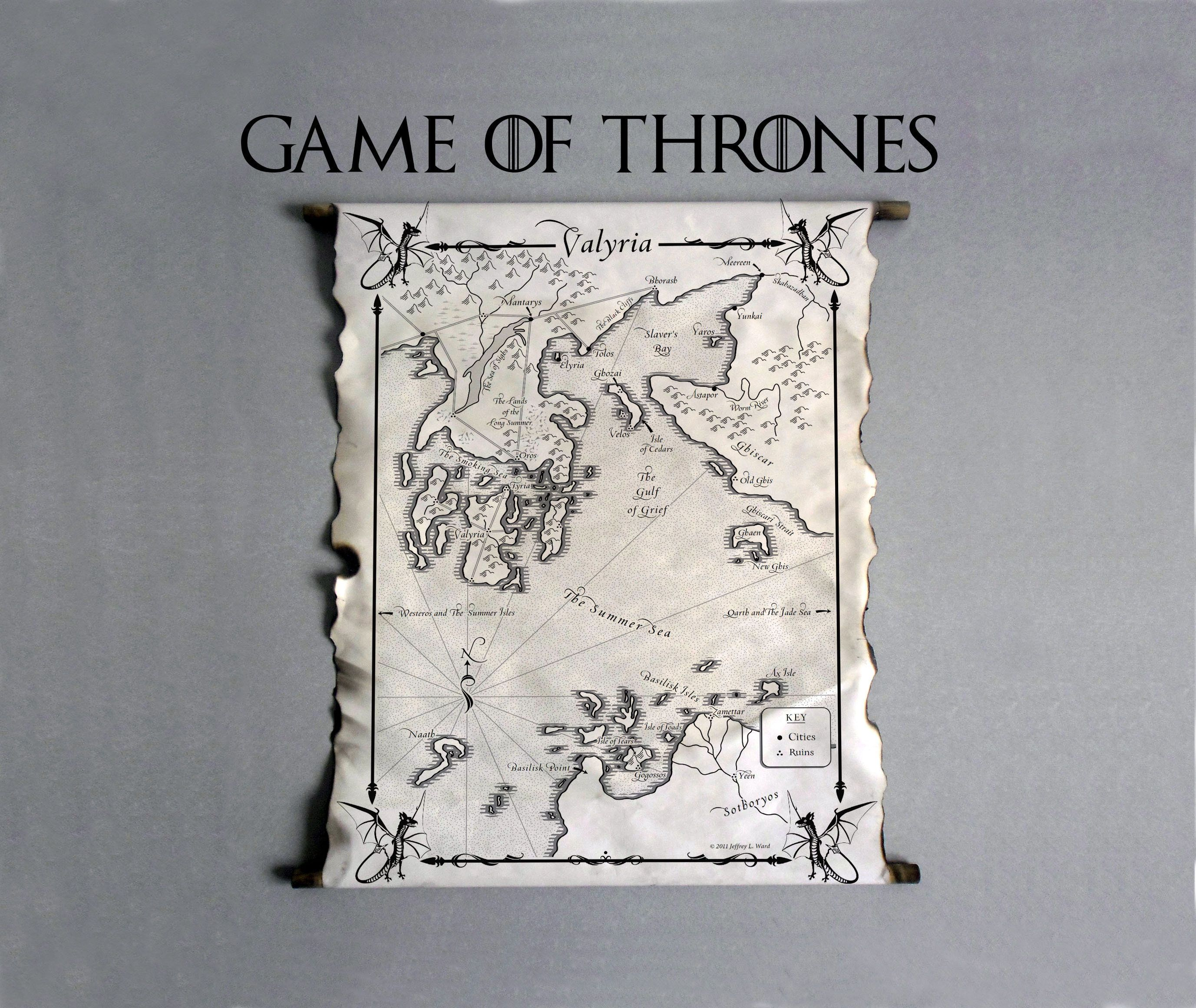 Map Of Valyria Game Of Thrones Westeros Map Essos Map A Song