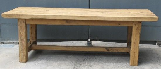 table salle manger rustique chene massif bois sable vernis Tables