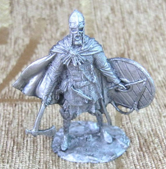 Tin figure of DUX LEADER VIKING 54 mm metal scale 1:32 #SA5