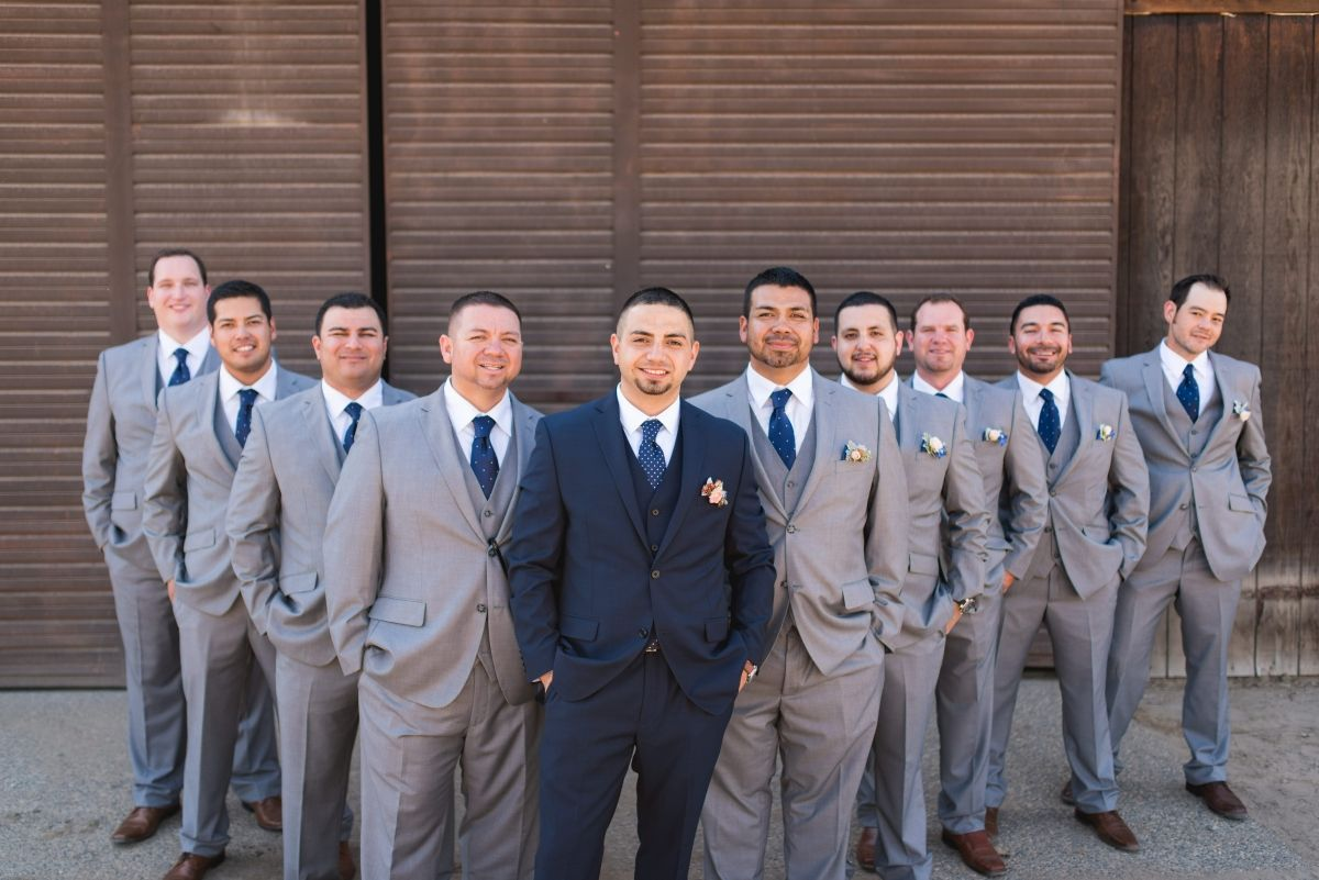 e8059a3ff Katie Sonny 143 w full Blue Suit Wedding, Wedding Groom, Grey Tuxedo Wedding ,