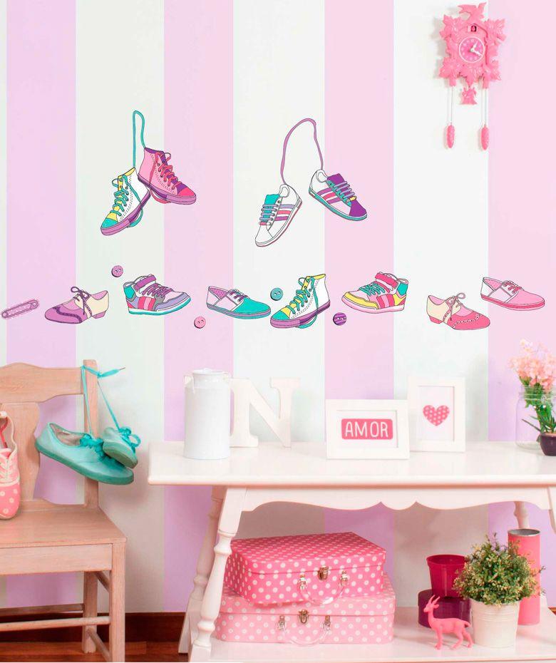 Zapatos vinilo adhesivo decoraci n de paredes cop encuentra m s vinilos adhesivos - Decoracion paredes vinilos adhesivos ...