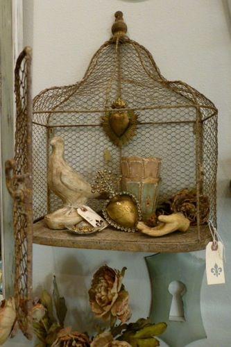 Decorative Wall Birdcage Vintage Bird Cage Bird Cage Decor Shabby Chic Birdhouse