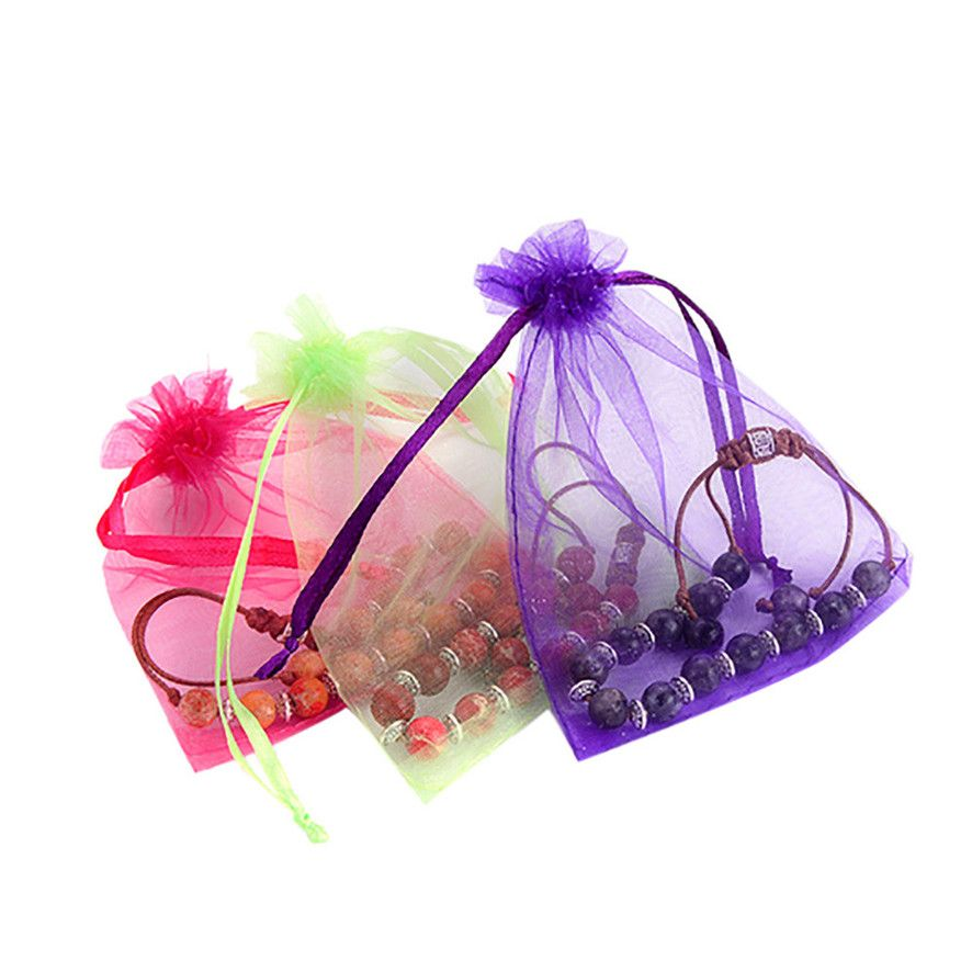 New 2017 Jewelry Organza Bags Packaging Bags Wedding Party