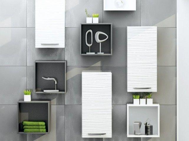 Idéaux dans un studio, ce meuble-vasque et cette demi-colonne - comment accrocher un meuble de cuisine au mur