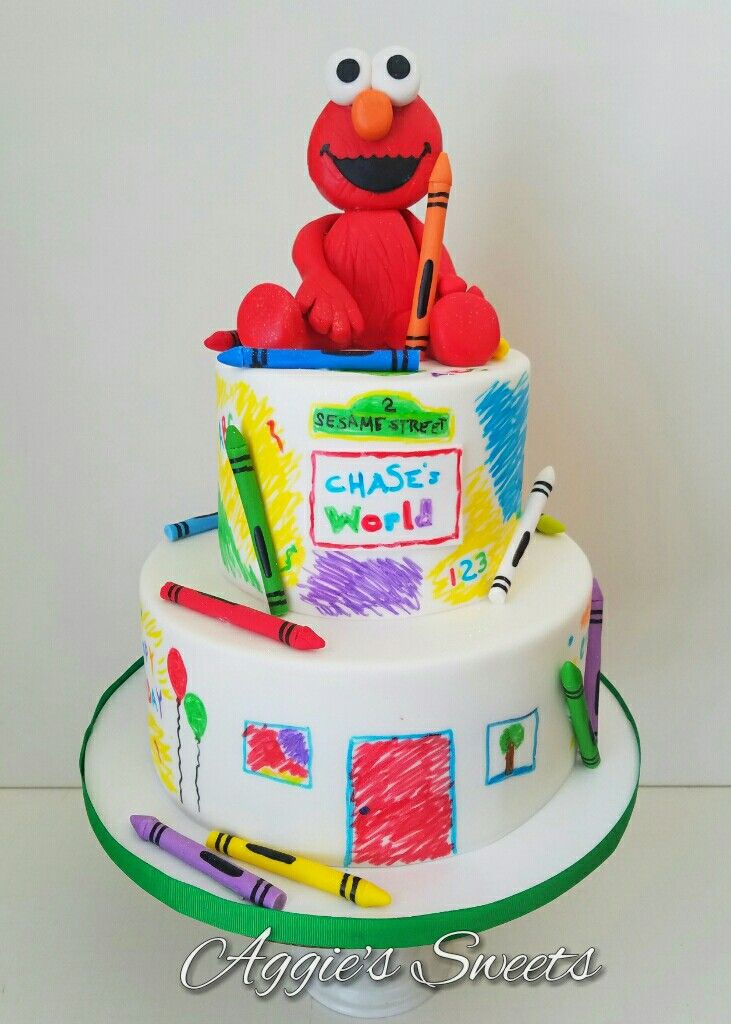 elmo birthday cake elmo sesame birthday cake aggie s 3882