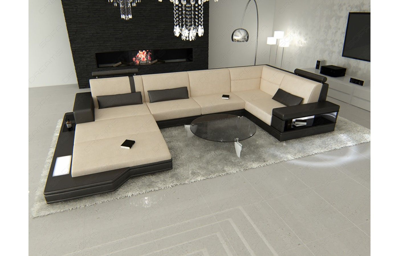 stoff wohnlandschaft messana stoff wohnlandschaft messana u form wohnlandschaft wohnen und. Black Bedroom Furniture Sets. Home Design Ideas