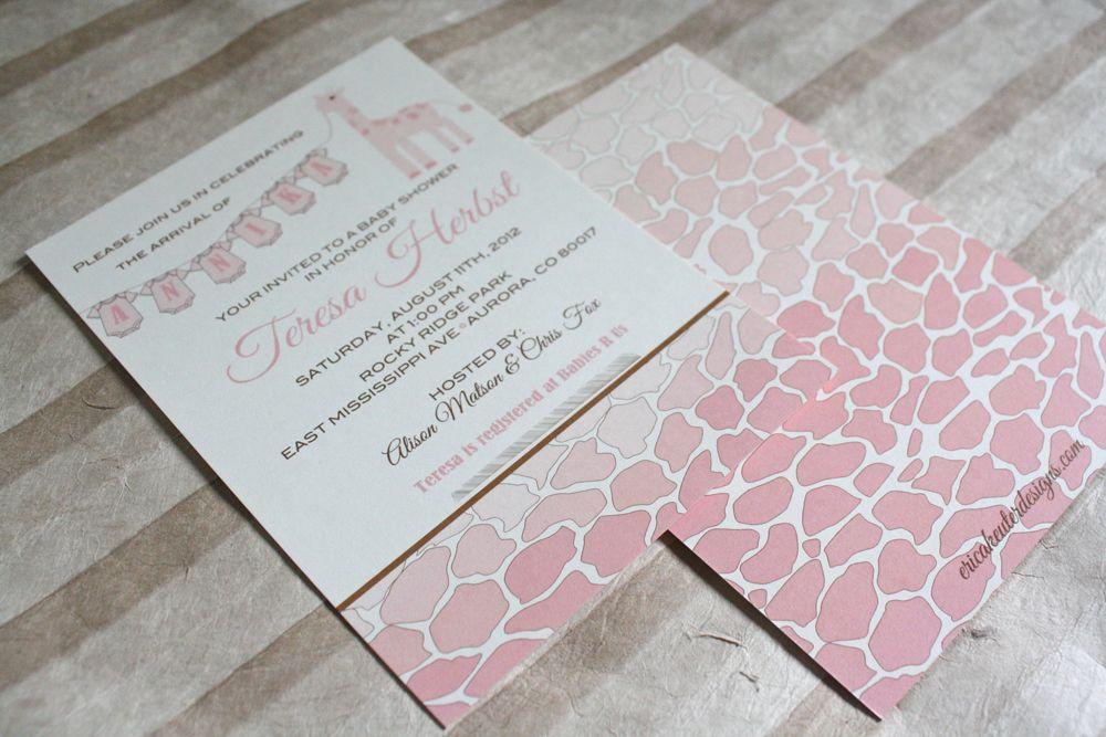 ERICA KEUTER DESIGNS: GIRAFFE BABY SHOWER INVITATION