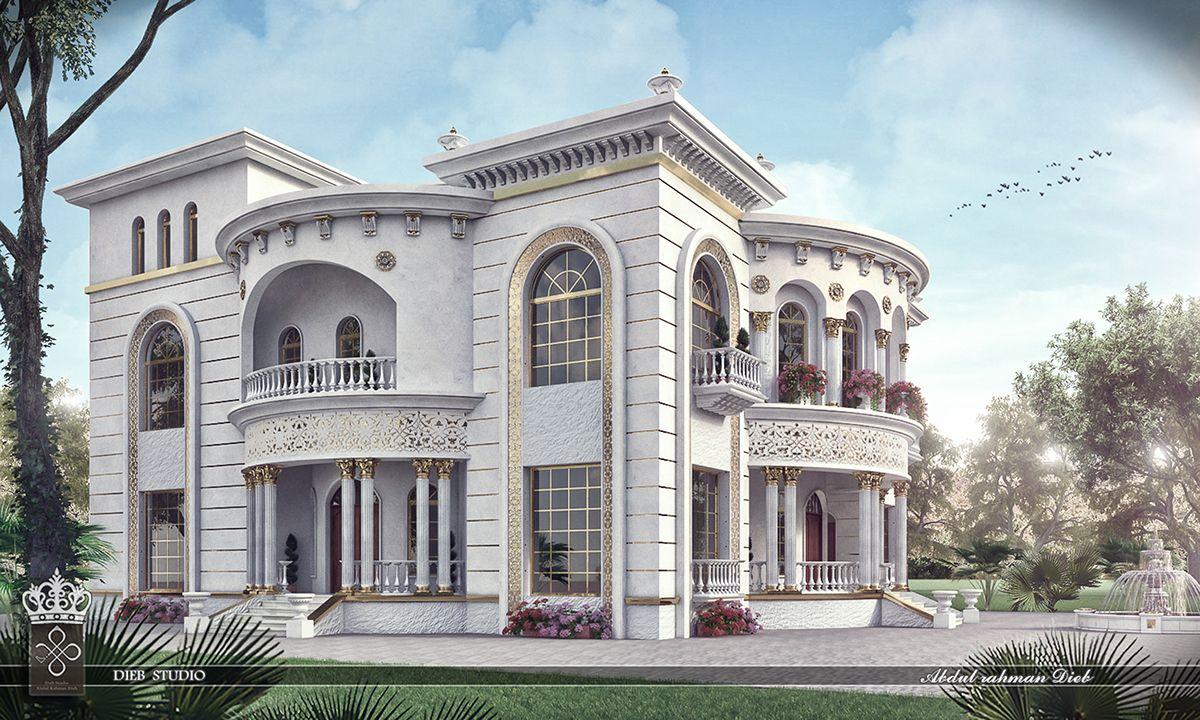 Princess Haya Villa On Behance Fantasy House Dream House Exterior Classic House Design