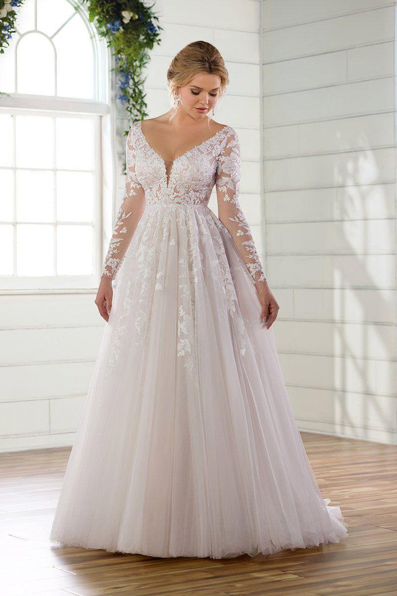 Whimislcal Wedding Dress Idea Long Sleeve Wedding Dress With Lace Details St Plus Wedding Dresses Essense Of Australia Wedding Dresses Long Wedding Dresses [ 1200 x 800 Pixel ]