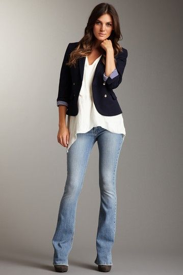 frankie b. Desire F Slim Bootcut Jeans.. Love this casual look ...