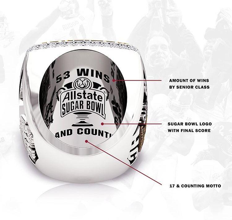 Alabama football national championship ring 2018 roll