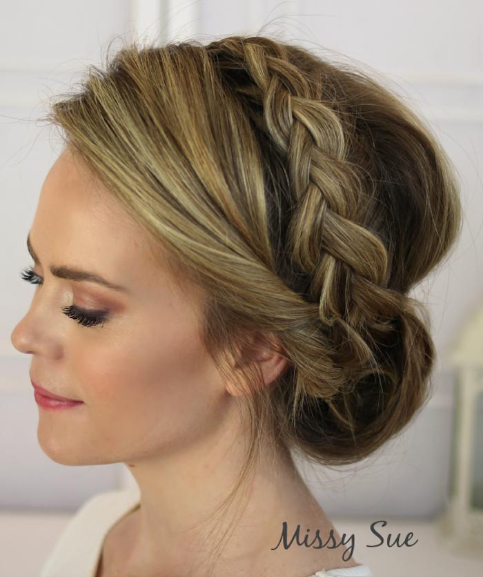 Assez Beauté de la mariée : la natte qui fait la coiffure | Haar Ideen  UP05