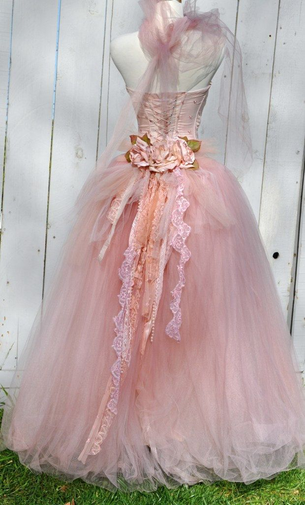 Victorian-Inspire Tulle Gown, Quinceanera Gown. Tutu Dress/ Photo ...