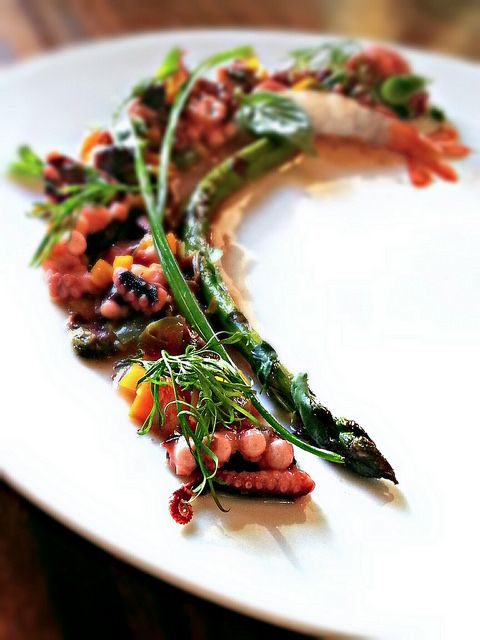 octopus, spices and shrimps, seafood salad by uwe spätlich, via Flickr