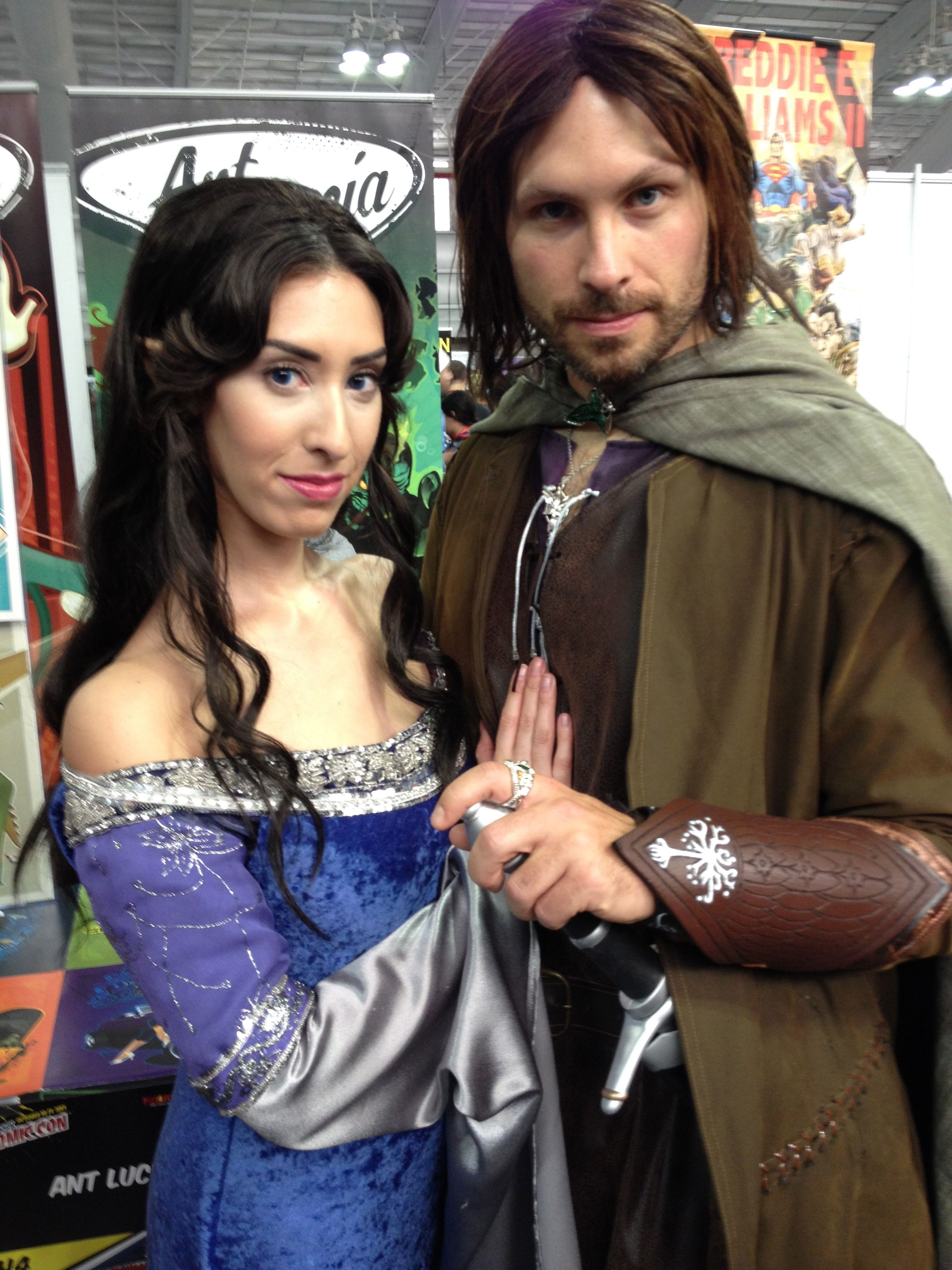 fantasy cosplay, lord of the rings, tolkien, aragorn, arwen, new