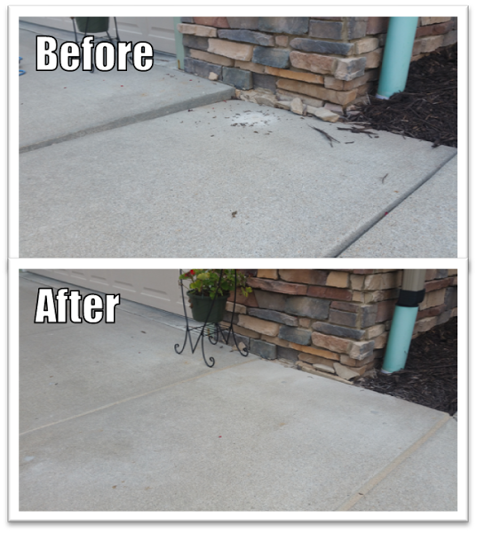 Here S A Concrete Walkway That Had Settled Sunk In Council Bluffs Ia We Were Able To Use Our Polyurethane Mudj Concrete Walkway Concrete Pad Driveway Repair