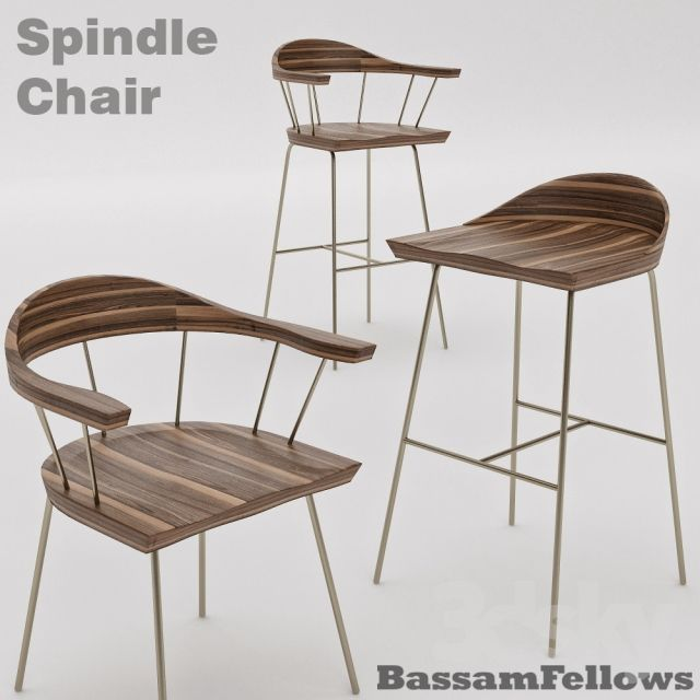 Bassamfellows Spindle Chair Stool Bundle Furniture For