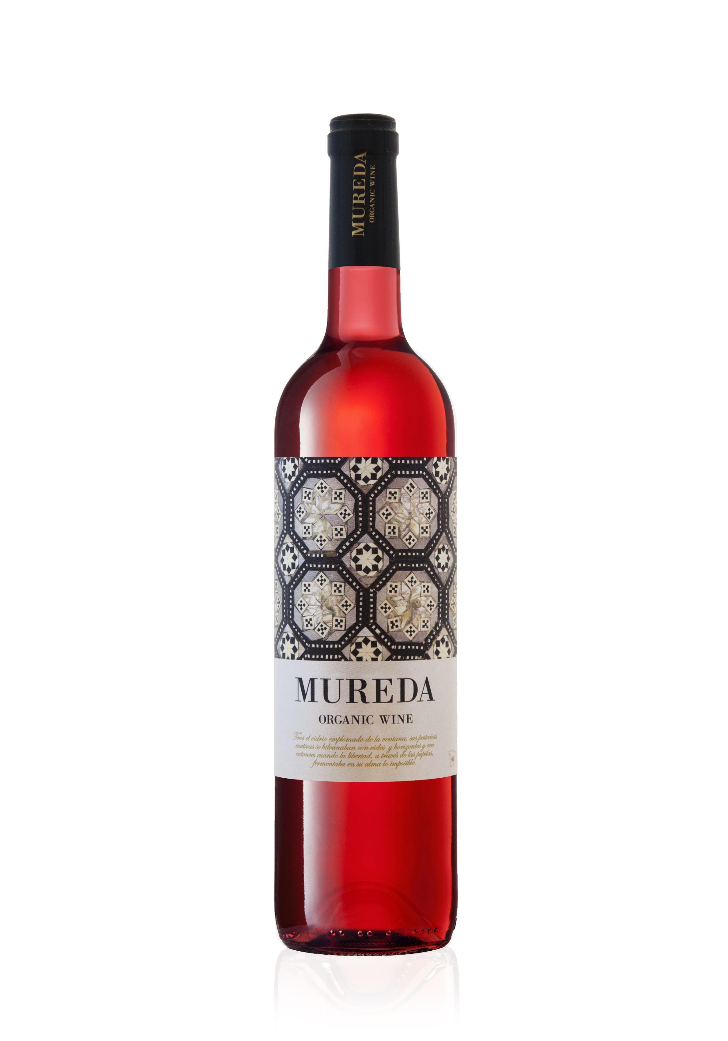 Mureda Organic Wine Rosado Packaging Realizado Para El Mercado Chino Y Ruso Wine Packaging Design Wine Label Packaging Wine Label Art