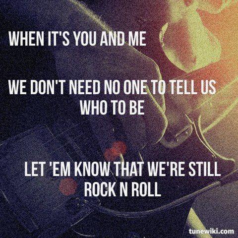 Lyricart For Rock N Roll By Avril Lavigne Lyrics Pinterest