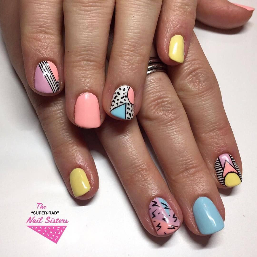 The Super Rad Nail Sisters Melbourne Nail Art 80s Party Vibes