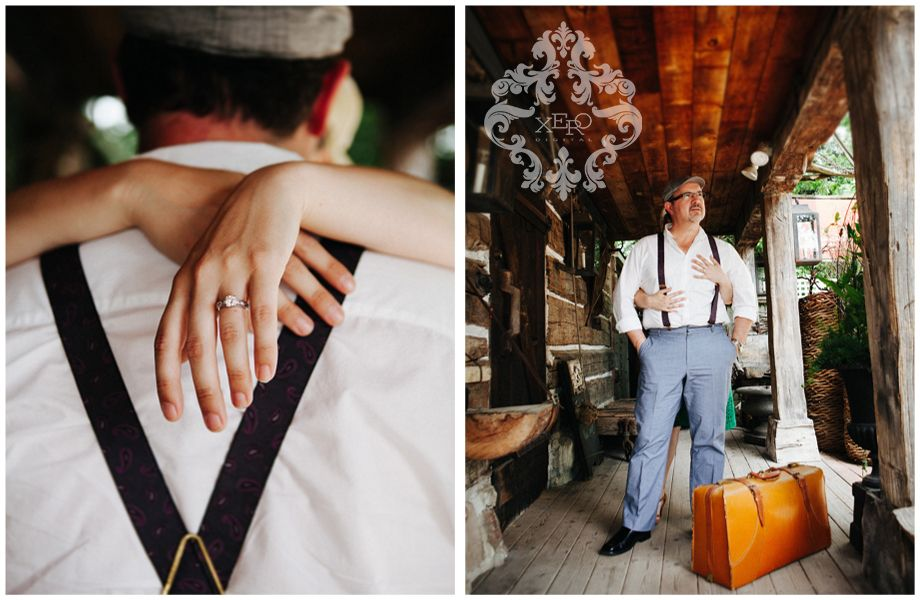 I love the shot on the LEFT  Vintage Inspired Engagement by http://xerodigital.ca/ #vintage #engagement #photography