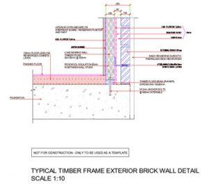 Timber Framed Exterior Brick Wall Detail Brick Wall Timber Frame Exterior Brick