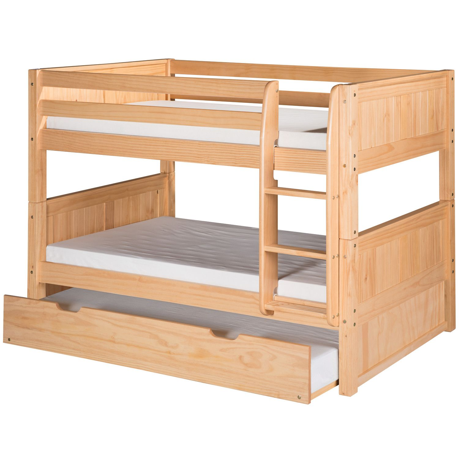 Best Camaflexi Camaflexi Low Twin Bunk Bed With Trundle 400 x 300