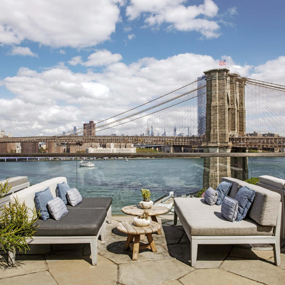 Harriet S Rooftop Bar Lounge 1 Hotel Brooklyn Bridge In 2020 Brooklyn Bridge Brooklyn Rooftop Bar
