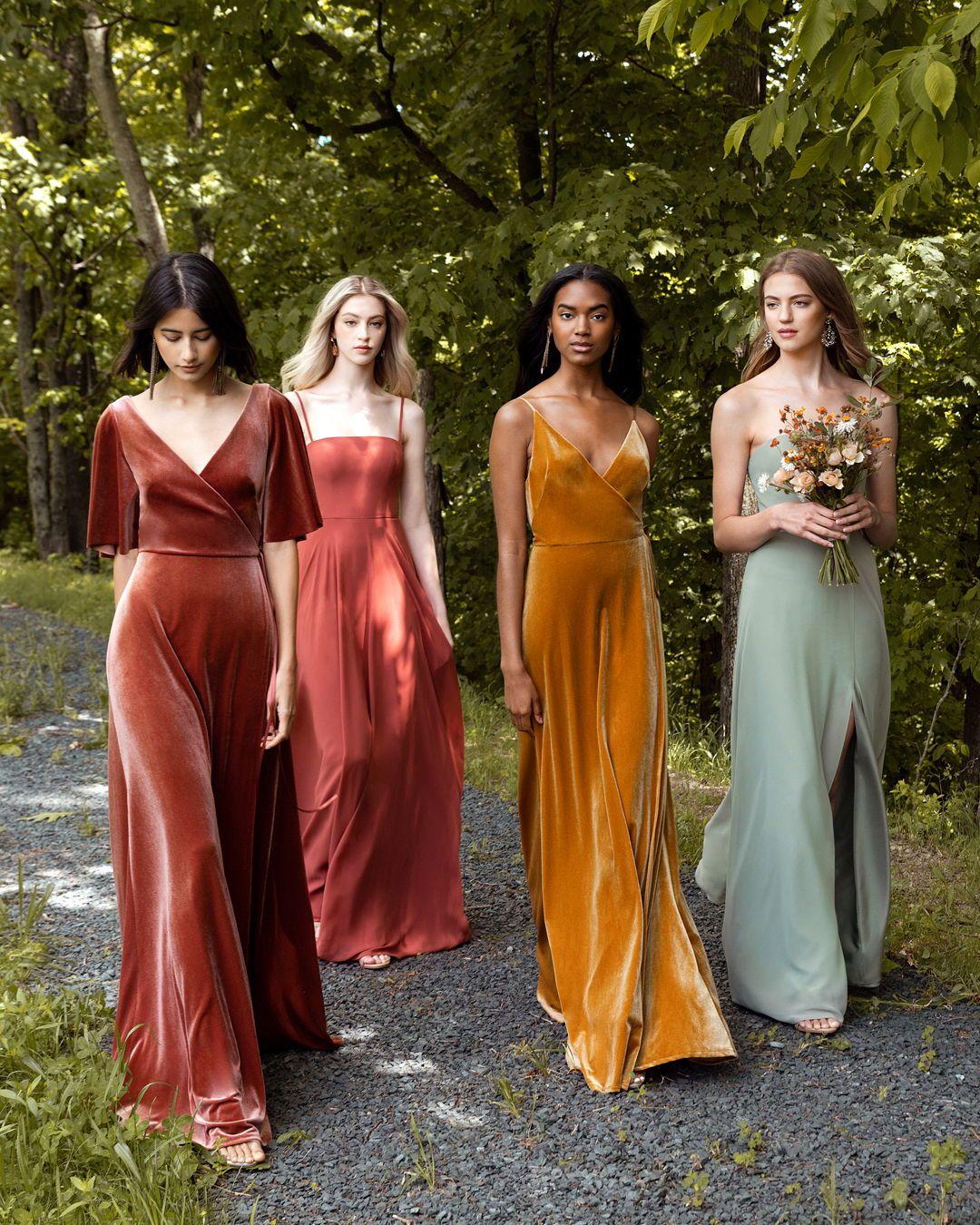 Jenny Yoo Fall 2019 Collection Bridesmaids Earthtones Chic