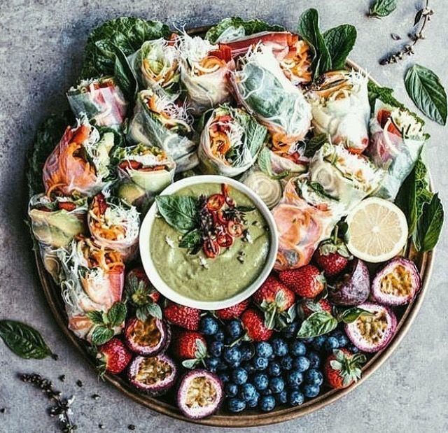 Pinterest tr0picm00n v e g a n pinterest foods food and party food fresh fruit and vegetable rolls forumfinder Images