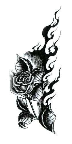 Tatouage Rose Tribale Jpg 250 500 Rose Tattoo Design Rose Tattoo Gothic Flowers
