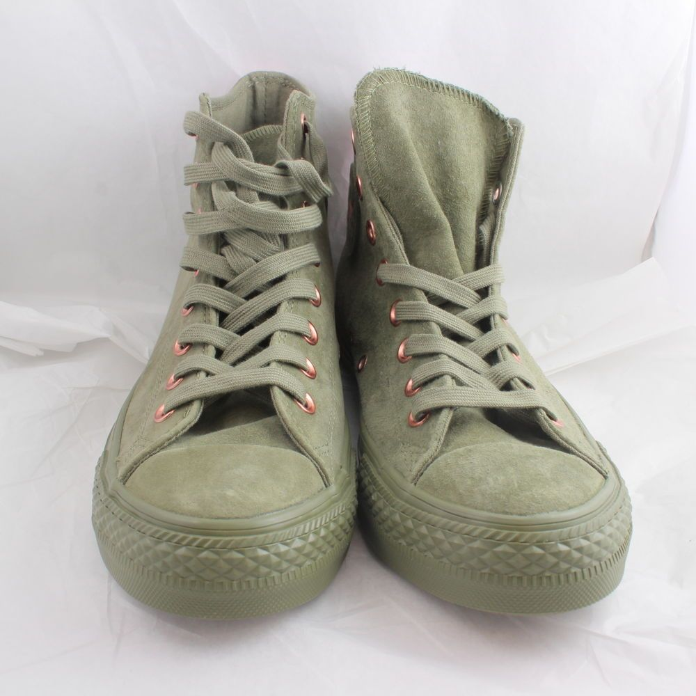 640bb9aa4c1 Womens Converse Green Suede Lace Up Trainers UK Size 7   Ex Display ...