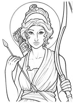 Artemis By Amy Clark Greek Mythology Art Mythology Art Artemis Goddess