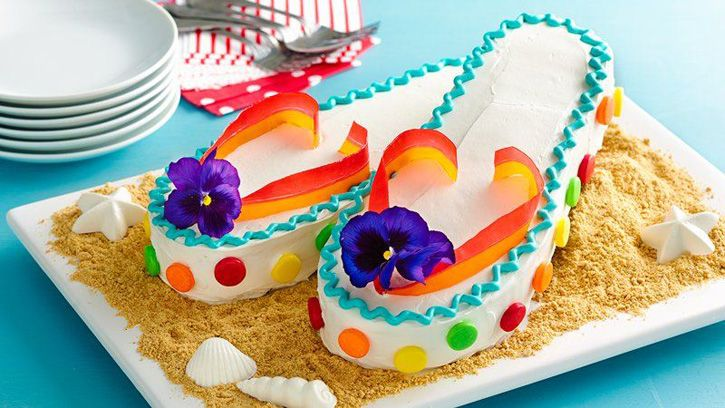 Miraculous The Ultimate Summer Birthday Party Flip Flop Cakes Cake Desserts Funny Birthday Cards Online Elaedamsfinfo