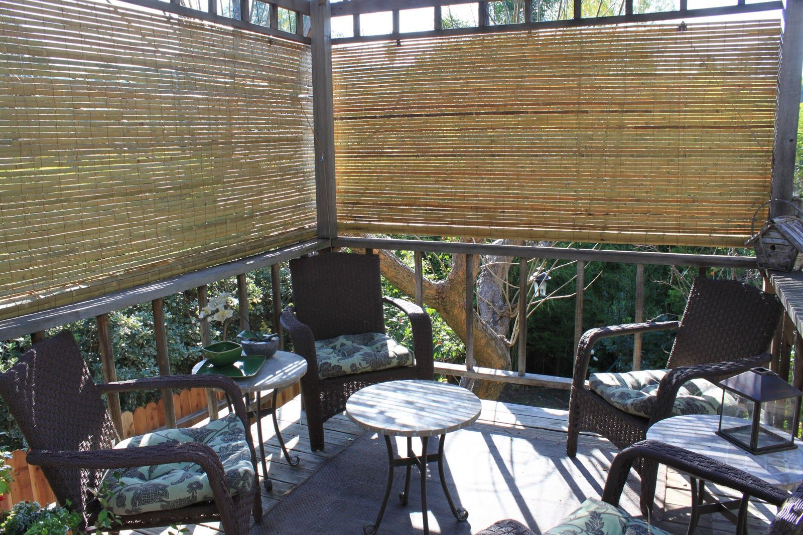 Idea 2 For Privacy Deck Simple Shades In 2019 Porch