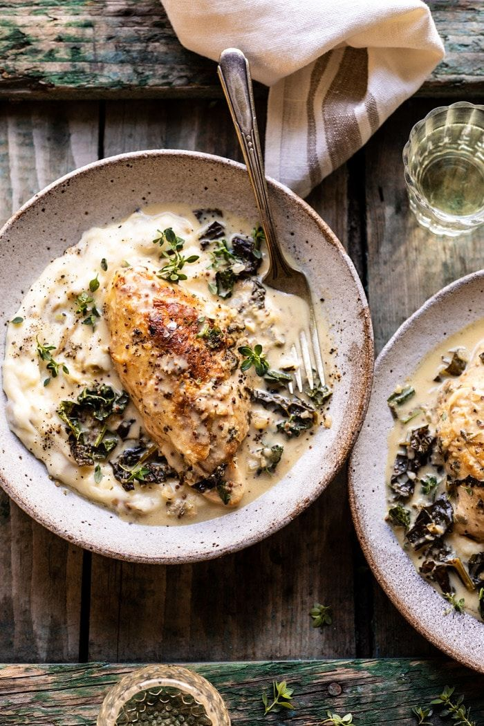 Photo of Slow Cooker French Wine and Mustard Chicken. – Half Baked Harvest
