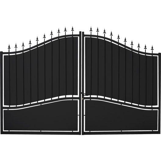 Portail Battant Fer Tangara Noir L 300 X H 212 Cm Cancelli Cancelli Di Ferro Ferro Battuto
