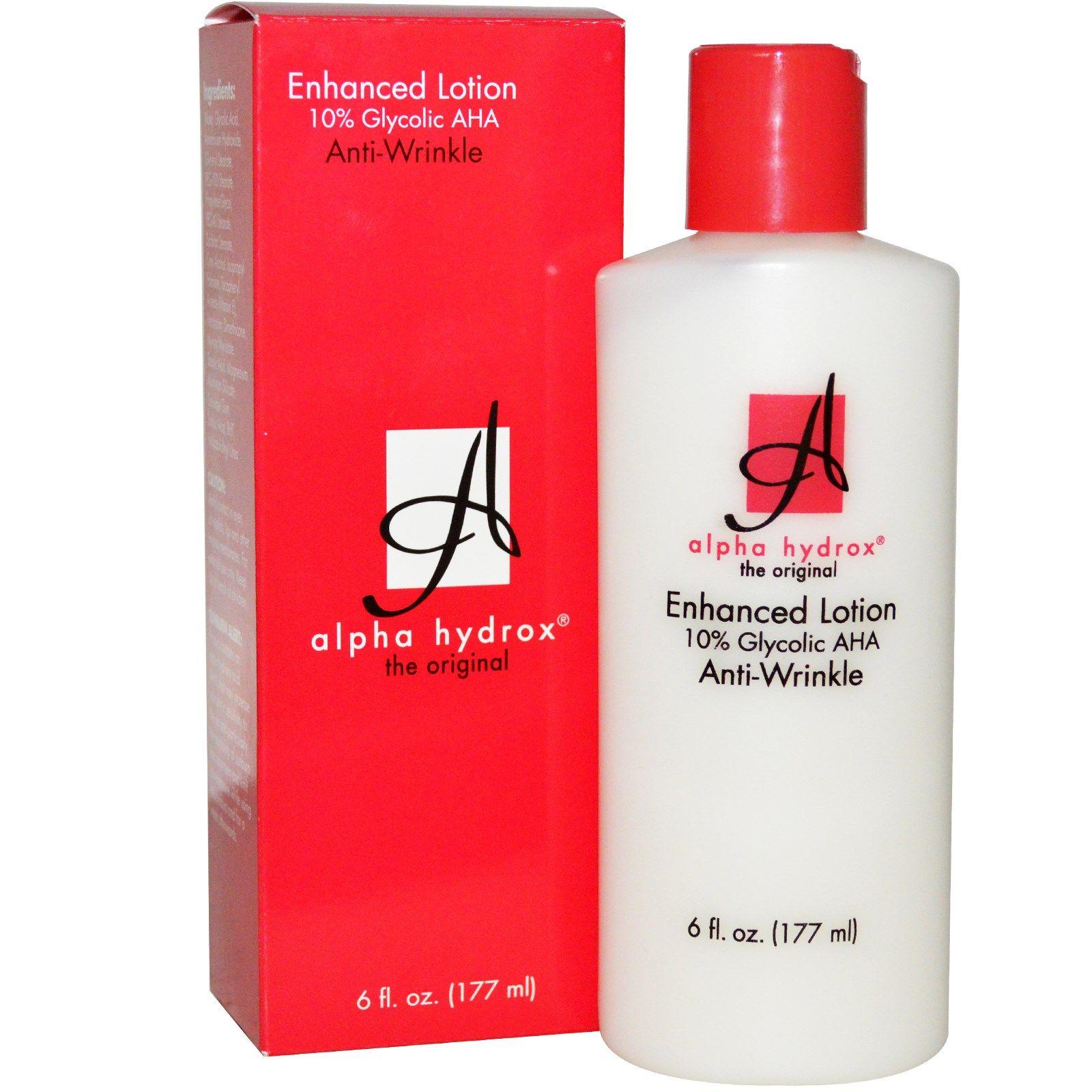 Alpha hydrox aha facial treatment