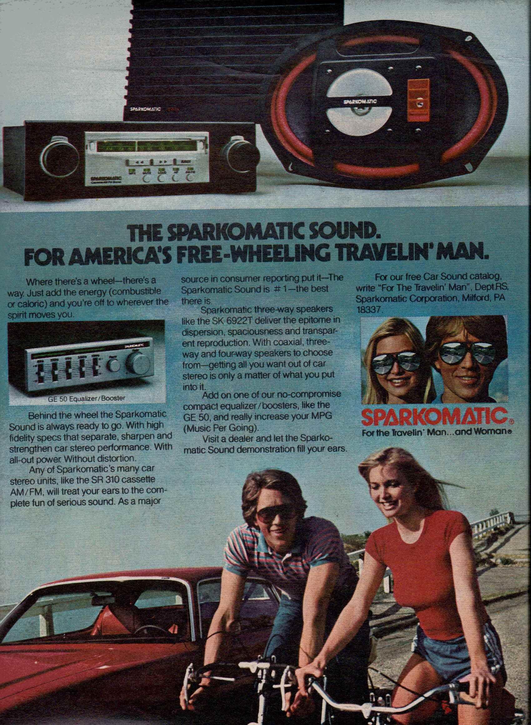 1981 Sparkomatic GE 50 receiver, SR 310 cassette stereo, SK