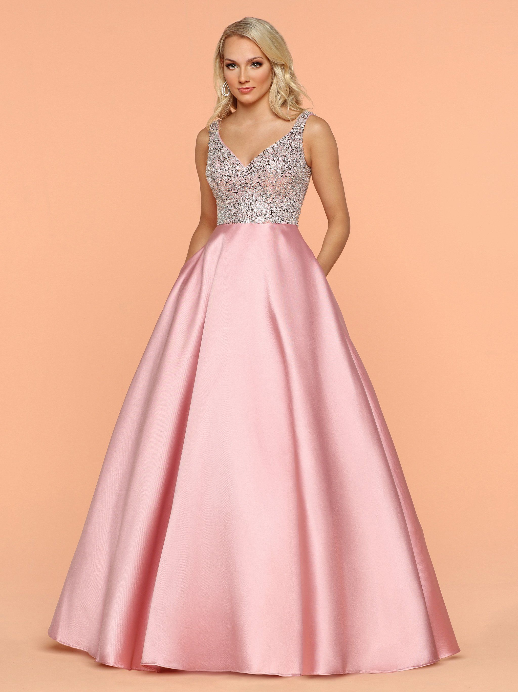 Sparkle by Emme prom dress, evening dress 71800 A-line size 18 pink ...