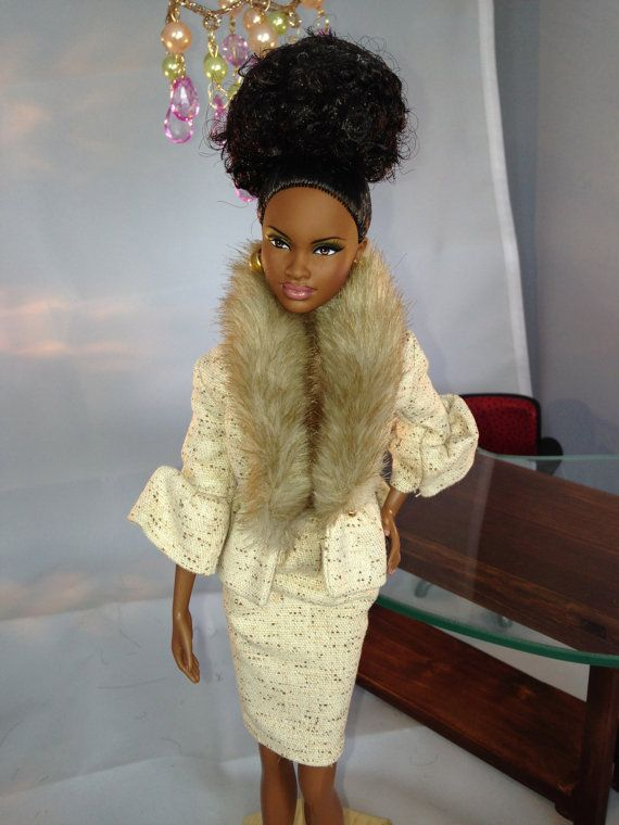 Foundation President Barbie 006 - an African American doll (Mbili/Grace) on Etsy, $79.99 #americandolls