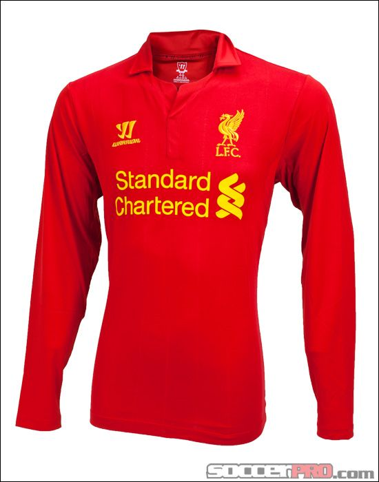 4aa730a41 Warrior Liverpool Long Sleeve Home Jersey 2012-2013... 76.49 ...
