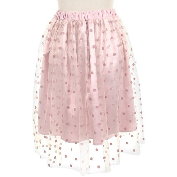 Frock Shop Pink Tulle Dot Overlay Skirt (2.965 RUB) ❤ liked on Polyvore featuring skirts, pink skirt, tulle skirt, pink tulle skirt, tulle overlay skirt and polka dot tulle skirt
