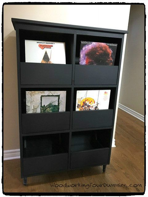 record cabinet detailed plans vinyl record storage in 2019 record cabinet vinyl record. Black Bedroom Furniture Sets. Home Design Ideas