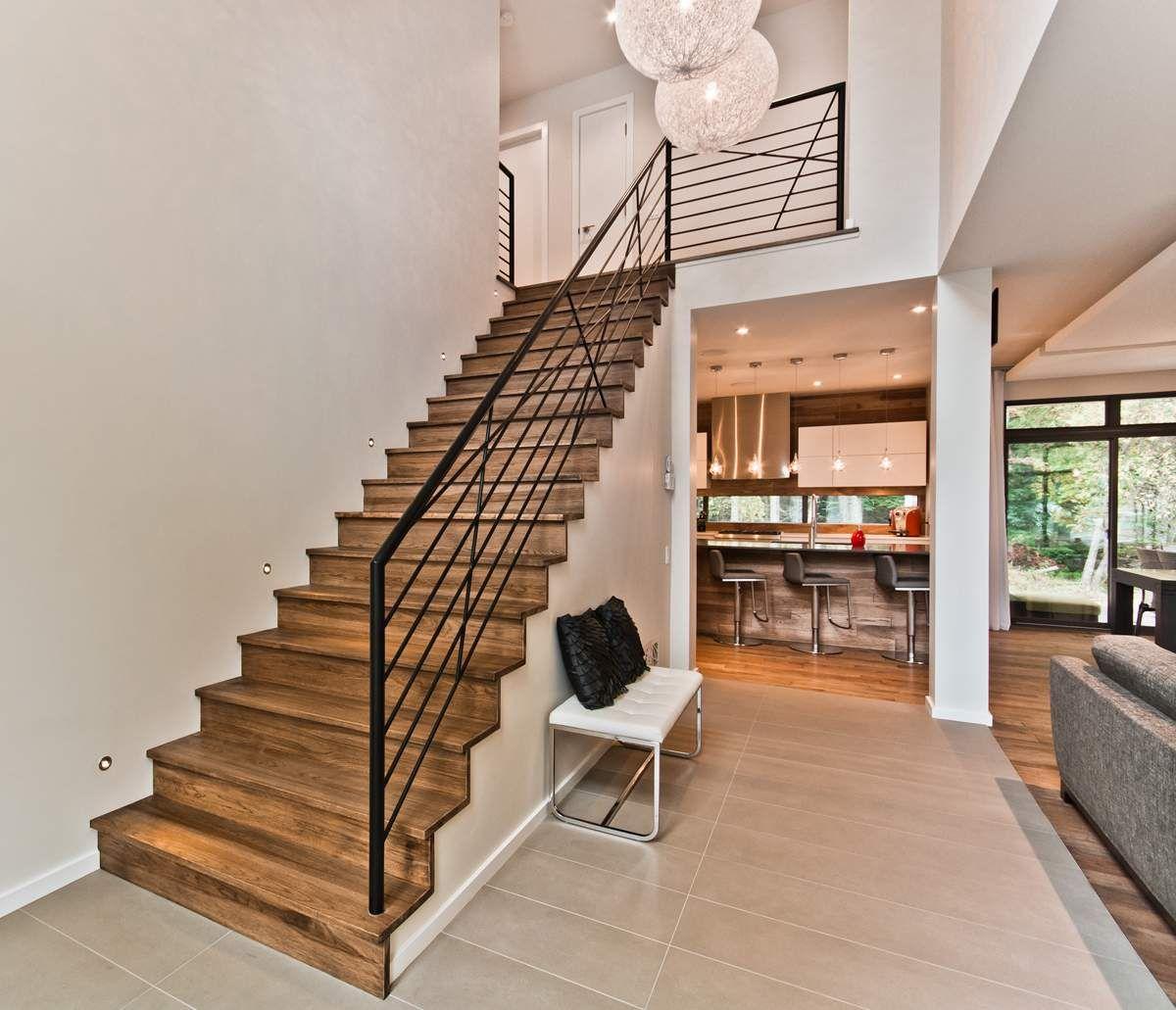 escalier bois hickory et m tal escaliers escalier bois. Black Bedroom Furniture Sets. Home Design Ideas