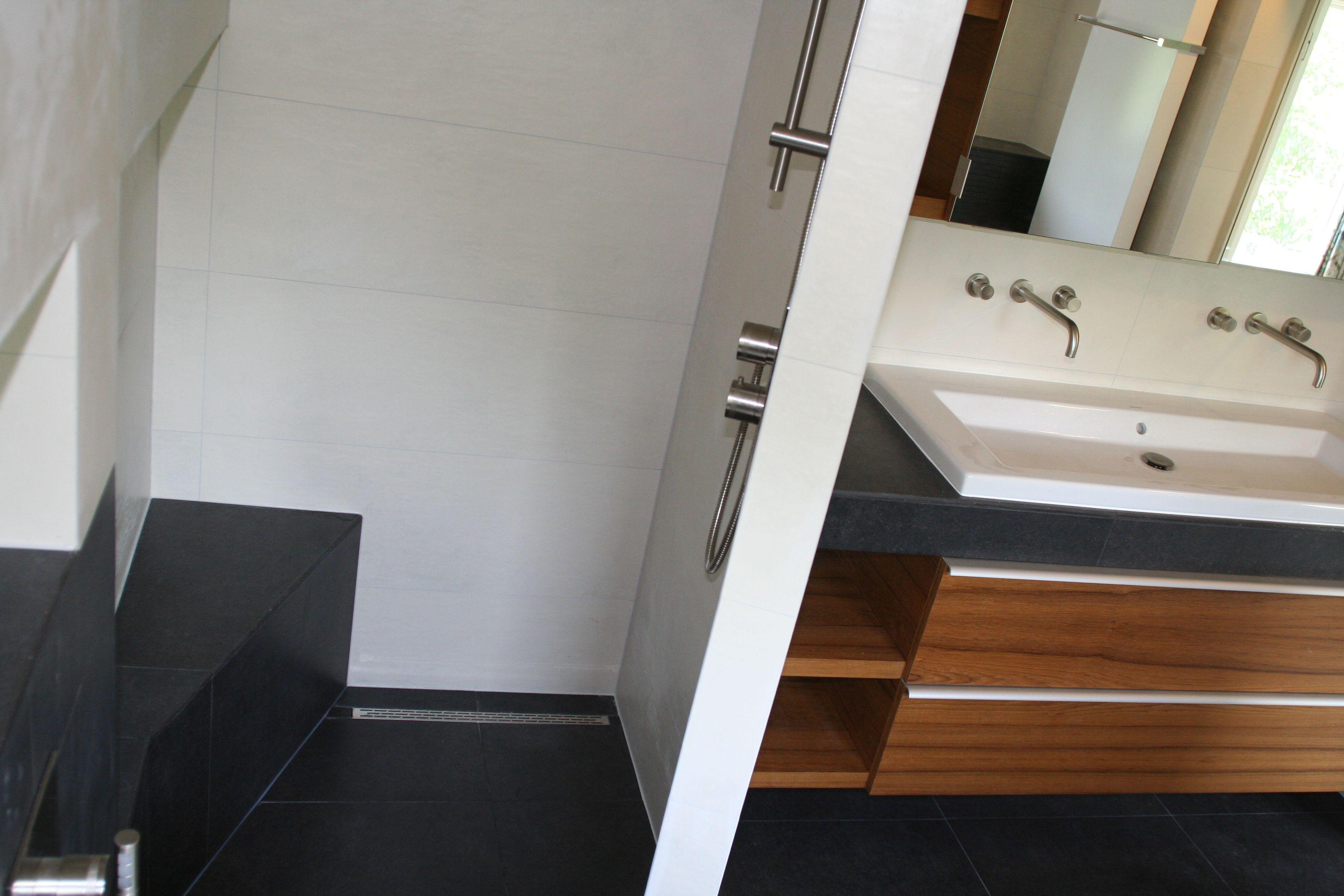 moderne badkamer met inloopdouche badkamer ideeà n bathroom