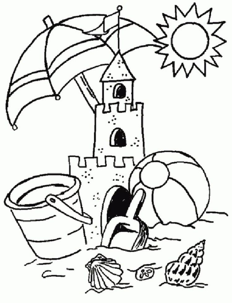 - Summer Coloring Pages For Preschool Summer Coloring Sheets, Summer  Coloring Pages, Beach Coloring Pages
