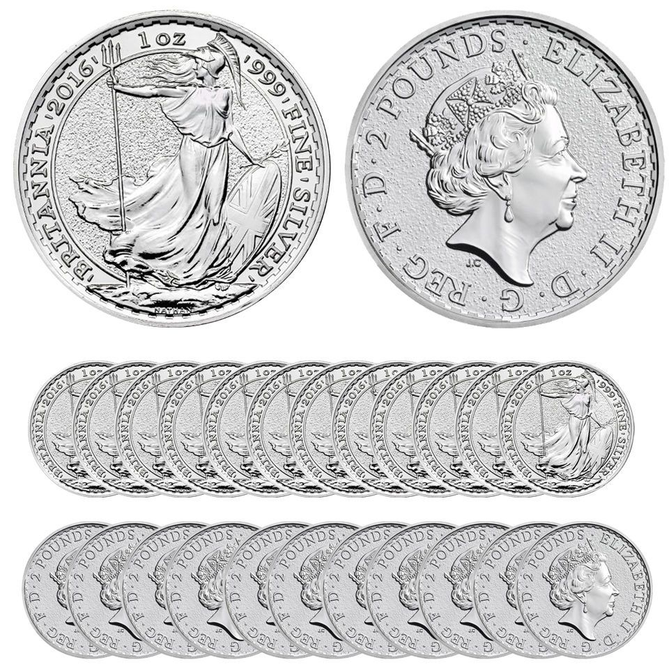 Lot of 5-2018 Great Britain 1oz Silver Britannia .999 BU